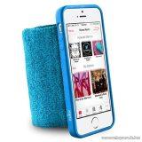 PURO iPhone SE / 5 / 5s RUNNING BAND karra rögzíthető, rugalmas, gumírozott okostelefon tok, kék