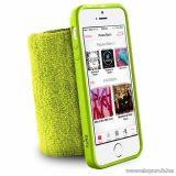 PURO iPhone SE / 5 / 5s RUNNING BAND karra rögzíthető, rugalmas, gumírozott okostelefon tok, zöld
