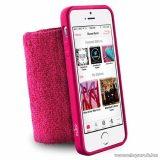 PURO iPhone SE / 5 / 5s RUNNING BAND karra rögzíthető, rugalmas, gumírozott okostelefon tok, rózsaszín (pink)