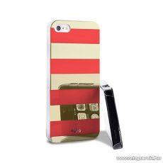 PURO iPhone SE / 5 / 5s okostelefon tok, csíkos, arany/korall