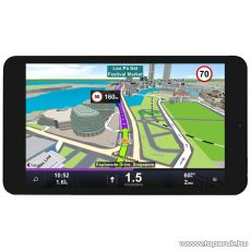 """WayteQ xTAB-8Q 8""""-os IPS tablet, 8GB, fekete (Android) + Sygic Truck 3D Navigation for Android VOUCHER Teljes Európa TeleAtlas (kamionos / teherautós) térképpel, 44 ország - készlethiány"""