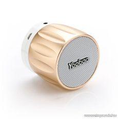 Yoobao YBL-202 Kis méretű, hordozható hangszóró, Bluetooth vezeték nélküli hangszóró, kihangosító, 2,3W, arany - megszűnt termék: 2016. szeptember