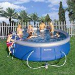 Bestway DOMINIKA EASY puhafalú medence vízforgatóval, létrával és védőtakaróval, 457 x 107 cm