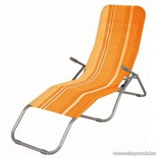 Westside Dönthető, UV-álló, fémvázas napozóágy textilén huzattal, narancssárga csíkos - készlethiány