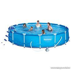 Bestway MIAMI EASY fémvázas medence vízforgatóval, létrával és védőtakaróval, 457 x 91 cm - készlethiány