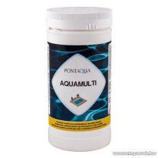 PoolTrend / PontAqua AQUAMULTI kombinált medence klórozó, algaölő, pelyhesítő vízkezelő szer, 1 kg (5 db tabletta)