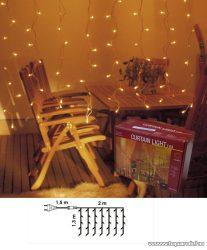 NORTEX KMN-M Drape Lite MICRO beltéri toldható fényfüggöny, 200 x 130 cm, 144 db fehér égővel