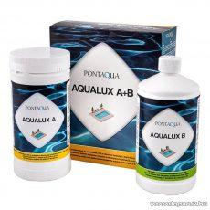 PoolTrend / PontAqua AQUALUX A+B kétkomponensű, klórmentes medence fertőtlenítő szett, 1 kg + 1 l