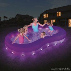 Bestway Színes hullám medence LED világítással ellátva, 280 x 157 x 46 cm