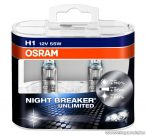 OSRAM NIGHT BREAKER Unlimited fényszóró izzó pár (DUO csomag), H1, 55 W / 12 V