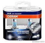 OSRAM NIGHT BREAKER Unlimited fényszóró izzó pár (DUO csomag), H4, 55 W / 12 V