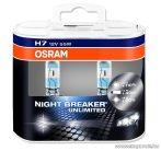 OSRAM NIGHT BREAKER Unlimited fényszóró izzó pár (DUO csomag), H7, 55 W / 12 V