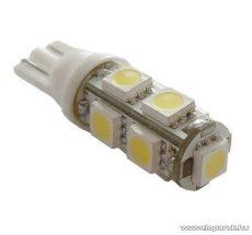 9 SMD LED-es autós izzó, T10 foglalatba való helyzetjelző, 1 db