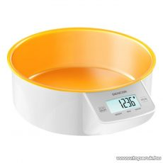 Sencor SKS 4004OR Digitális tálas konyhai mérleg, narancssárga - készlethiány