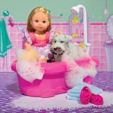 Steffi Love Évi baba kutyával és káddal (105733094) - Megszűnt termék: 2014. Szeptember
