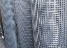 Ponthegesztett háló horganyzott vashuzalból, 50x50 mm szemméret, 100 cm magas, 2 mm-es huzalvastagság, 25 fm / tekercs