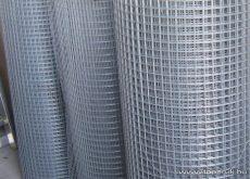 Ponthegesztett háló horganyzott vashuzalból, 75x50 mm szemméret, 120 cm magas, 2 mm-es huzalvastagság, 25 fm / tekercs