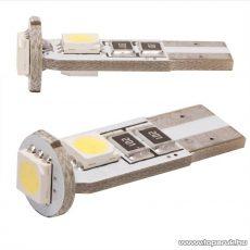 Carguard 3 SMD LED-es T10 izzó rendszám vagy belső tér világítás, fehér, 2 db / csomag (50997)