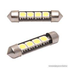 Carguard 4 SMD LED-es sofita izzó rendszám vagy belső tér világítás, fehér, 2 db / csomag (51017)
