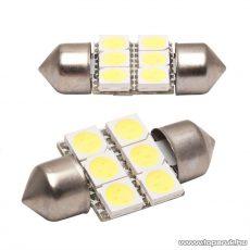 Carguard 6 LED-es sofita izzó rendszám vagy belső tér világítás, fehér, 2 db / csomag (50998)