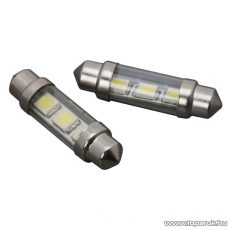 Carguard 3 SMD LED-es izzó rendszám vagy belső tér világítás, Sofita foglalat, 0,75W, DC12V, 2 db / csomag (51007) - készlethiány