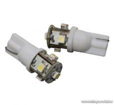 Carguard 5 SMD LED-es izzó helyzetjelző, T10 foglalat, 1,25W, DC12V, 2 db / csomag (51008) - készlethiány