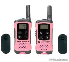 Motorola TLKR T41 PINK adó-vevő készülék, 4 km walky talky, rózsaszín