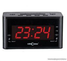 ConCorde CR 120 asztali ébresztőórás rádiós, piros színű LED kijelzővel
