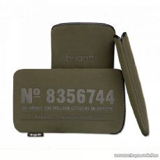 Bugatti Neopren olive S álló mobiltelefon tok, 116 x 62mm (07702)