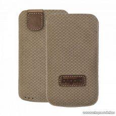 Bugatti Perfect Scale brown Apple iPhone 4/4S barna álló bőrmobiltelefon tok (07782)