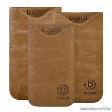 Bugatti Skinny desert SL világos barna álló bőr mobiltelefon tok, 77 x 133 mm (07902) - megszűnt termék: 2015. március