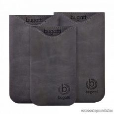 Bugatti Skinny steel SL sötét szürke álló bőrmobiltelefon tok, 77x133mm (07904) - megszűnt termék: 2016. január