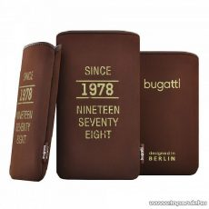 Bugatti SlimCase wood M sötétbarna álló mobiltelefon tok, 122x75mm (07866)