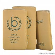 Bugatti SlimCase raffia M bézs álló mobiltelefon tok, 122x75mm (07872)