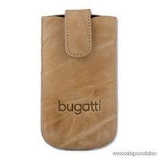 Bugatti SlimCase S bézs színű álló mobiltelefon tok, 6,3cm x 11,4cm (007317)