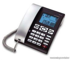 ConCorde 6025CID vezetékes CID telefon Baby Call funkcióval, fekete / ezüst kézibeszélővel