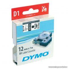 DYMO D1 kazetta, 12mmx7m, fekete/víztiszta - megszűnt termék: 2016. július