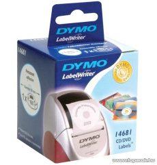 DYMO LW CD/DVD etikett, fehér, 57 mm, 160 db / tekercs - megszűnt termék: 2016. július