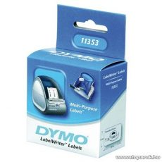DYMO LW etikett, fehér, 24x12mm, 1000 db / tekercs - megszűnt termék: 2016. július