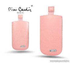 Pierre Cardin H10-10 Slim PINK univerzális álló mobiltelefon bőrtok, rózsaszín