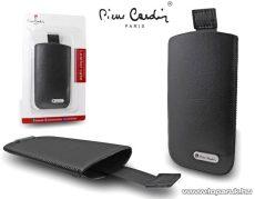 Pierre Cardin H10-8 Slim black univerzális álló mobiltelefon bőrtok, fekete