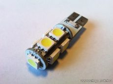 9 HighPower LED 360 fok látószög CAN-BUS beltér, vagy rendszámtábla megvilágító led (T10 foglalatba) (LD31-W5W)