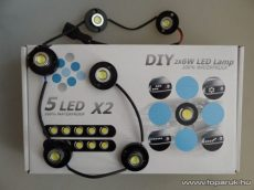 DRL Nappali menetfény, 6 db 1W-os HighPower LED (DRL003)