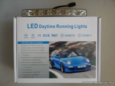 DRL Nappali menetfény, 6 db 1W-os Philips típusú HighPower LED-es, 184 mm x 20.6 mm (DRL002) - készlethiány