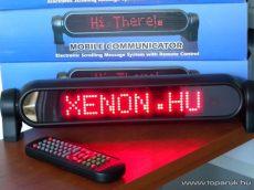 LED-es üzenőfal futófény autóba, vezeték nélküli távirányítóval, 12V