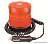 Narancssárga villogó jelzőfény, 12 V-os szivargyújtóba csatlakoztatható (93503)