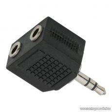 USE 3,5 mm sztereó dugó - 2 x 3,5 mm sztereó aljaztátalakító, Jack elosztó (AC 16X)