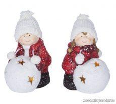 ARTI CASA EDC 1093 Kerámia dekor LED figura, meleg fehér világítással, 1 pár