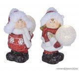 ARTI CASA EDC 1098 Kerámia dekor LED figura, meleg fehér világítással, 1 pár