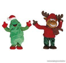 ARTI CASA EDC 9234/FR Karácsonyi éneklő, táncoló fenyőfa és rénszarvas figurák, 2 db / csomag